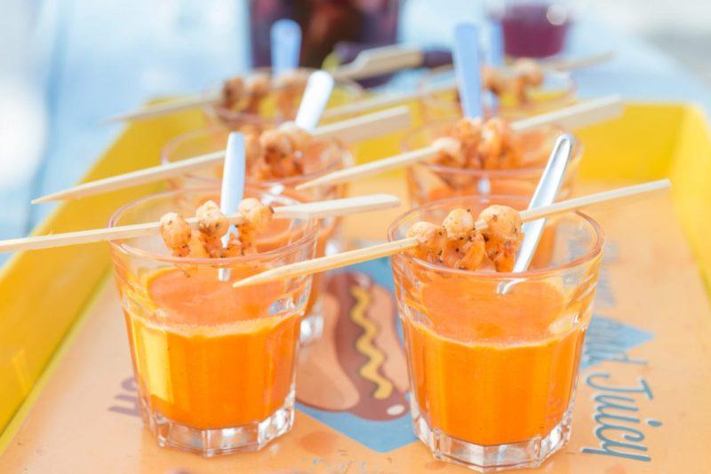 soupe de melon et basilic